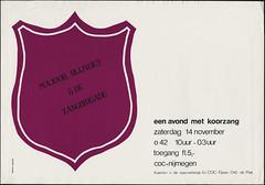1981 Een avond koorzang in O42 (LANijmegen) Tags: o42 coc rozegeschiedenis nijmegen 1981 roosjeprint affiche poster lhbti