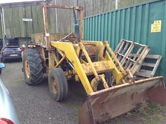RUSTY LOADER. (RUSTDREAMER.) Tags: rustdreamer tractor rusty masseyferguson