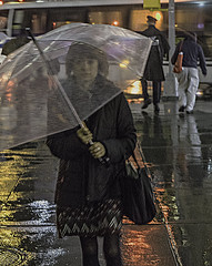 Color of Autumn 2016 In NYC (Lincoln Center Area with Reflections and Shadows On a Very Rainy Day) (nrhodesphotos(the_eye_of_the_moment)) Tags: dsc08890472 theeyeofthemoment21gmailcom wwwflickrcomphotostheeyeofthemoment colorofautumn2016innyc autumn season people candid rainy umbrella shadows reflections sidewalk transportation bus men women manhattan nyc dusk walking pedestrians silhouette coat outdoor wet lincolncenterarea signs billboards metal glass windows perspective