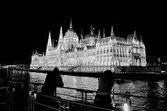 Viking Embla sailaway (oxfordblues84) Tags: people blackandwhite bw reflection building water architecture night river dark evening europe hungary nightlights budapest parliament tourists danube travelers afterdark danuberiver castledistrict gothicrevival mtystemplom fishermansbastion matthiaschurch vikingrivercruise vikinglongship 5photosaday imresteindl hungaryparliament hiltonbudapest hungaryparliamentbuilding vikingembla hiltonbudapesthotel vikingemblacruise