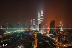 The City Centre (Frahman Photography) Tags: light architecture night landscape nikon scenery asia cityscape nightscape awesome aerial malaysia kualalumpur malaysian klcc binjai nikond90 nikonmalaysia frahman frahmanpixel