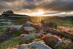 Owler Tor Sunset DSC_3752 (TDG-77) Tags: sunset landscape countryside nikon rocks heather district derbyshire peak d750 tor nikkor f3545g owler 1835mm