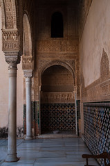 Arcade in Court of the Myrtles (Gabludlow) Tags: spain arch pillar arcade palace andalucia tiles alhambra granada column andalusia nasrid patiodelosarrayanes courtofthemyrtles