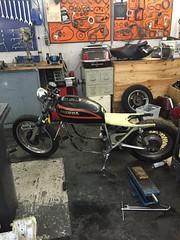 IMG_0333 (digyourownhole) Tags: vintage honda motorcycle restoration caferacer cb550 bratt buildnotbought