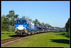 RTB-V203+beladen-Laaers_Awhvw_01102015 (Dennis Koster) Tags: trein nissen qashqai rtb g2000 autotrein goederentrein v203 laaers amsterdamwesthavenwest autowagentrein