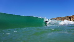 Blue and Green (daniel_forcher) Tags: ocean green portugal water sport photography surf underwater shot outdoor sony first wave september housing algarve sagres bodyboarder a6000 meikon