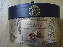 Marks & Spencer Dulce de Leche Truffles Rolled in Almond Pieces (zazou.ciocolata) Tags: uk almond caramel nut truffle dulcedeleche marksspencer pralines milkchocolate caramelcream filledchocolate