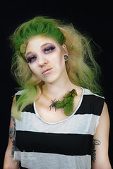 Beetlejuice (Hey_Lee! Photography) Tags: portrait green halloween girl hair movie effects photography costume moss scary spiders makeup creepy special spooky horror beetlejuice sfx 2015 heylee heyleephotography