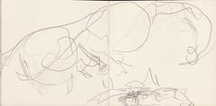 Wo die Stunden geblieben waren, htte er nicht sagen knnen (raumoberbayern) Tags: summer bus pencil subway munich mnchen sketch drawing sommer tram sketchbook heat ubahn draw bleistift robbbilder skizzenbuch zeichung