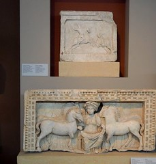 Epona in a norther Greek museum (mikescottnz) Tags: museum celtic epona triplism mistressofhorses patronessgoddess