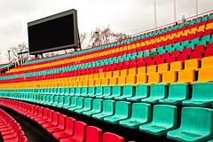 Sitzreihen im Jahn-Sportpark (Jonny__B_Kirchhain) Tags: berlin sport germany deutschland alemania stadion allemagne prenzlberg germania alemanha prenzlauerberg  fusball friedrichludwigjahnsportpark niemcy sitzreihen berlinprenzlauerberg jahnsportpark    republikafederalnaniemiec repblicafederaldaalemanha  bfcberlin