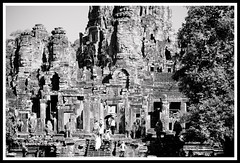 Angkor Thom - the sense of scale bw (calamur) Tags: architecture cambodia buddhist religion temples siemreap buddhisttemple angkorthom harinicalamur nikond7000