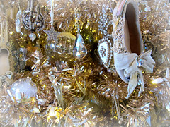 Vintage Tree (Bennilover) Tags: christmas trees ballet glitter diamonds canon hearts shoes crystal crochet pearls nostalgia ornaments christmastrees shining bows slippers rogersgardens