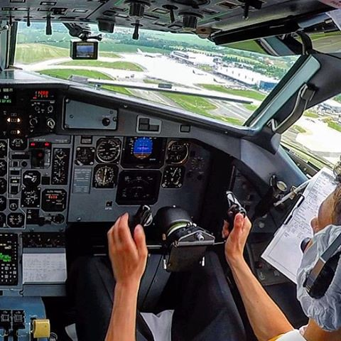 Pilot GoPro view of the takeoff in Prague in the cockpit of the CSA ATR!  Watch the video at justplanes.com  #justplanes #thisisaviation #czechairlines #atraircraft #cockpit #pilot #instagramaviation #instaaviation #aviation_lovers #aviationlovers #airpla