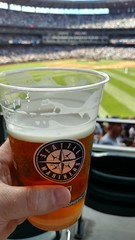 Not much better than a brew at the ballpark (NJ Baseball) Tags: seattle beer washington mariners safecofield seattlemariners americanleague 2015 daygame majorleagues drinkingagain
