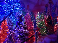 PETCO's Candy Land. (val gonzaga) Tags: california christmas lights downtown candy sandiego christmaslights petco candyland gingerbreadmen petcopark iphonephotography valgonzaga valeriegonzaga