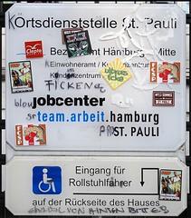 - (txmx 2) Tags: hamburg graffiti scrawl jobcenter stpauli sign whitetagsrobottags whitetagsspamtags