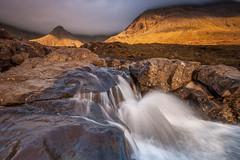 Band of Gold (johnkaysleftleg) Tags: fairypools isleofskye scotland waterfall canon400d sigma1020mmf456exdchsm ndsoftgrad09