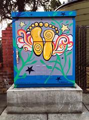 Break A Leg (ArtFan70) Tags: breakaleg fredalvarado alvarado livermore california ca unitedstates usa america art paintedutilitybox utilitybox box carltonsquare