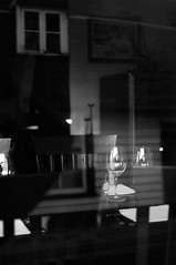 waiting (jazzwink) Tags: glass wine restaurant dine stable bar window chair