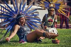 Painful Aztec ritual (PeterThoeny) Tags: nex6 sel55210 1xp raw hdr photomatix sanjose california diademuertos diadelosmuertos dayofthedead dance firedance aztec burn pain foot outdoor park qualityhdr qualityhdrphotography fav100