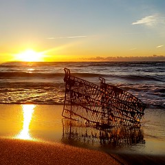 Shopping cart (ossington) Tags: sunrise toronto scarborough canada decrepit cart aged beauty shining shoreline warmth glow outdoor vista landscape