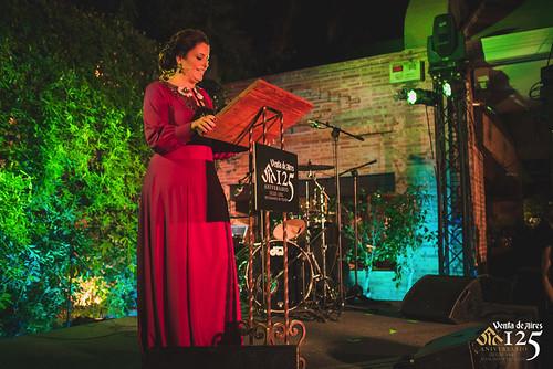 Periodista Miriam Galiano Marcos. Presentadora evento 125 aniversario de Venta de Aires en Toledo.