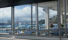 IMG_1192. Guardo e sogno lidi lontani. (marialacanale) Tags: albissola marina liguria navi da crociera porto di savona ristorante sul mare ombrelloni nuvole