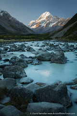 Hooker Valley (David Swindler (ActionPhotoTours.com)) Tags: glacial southisland aoraki newzealand hookervalley river mtcook mountcook