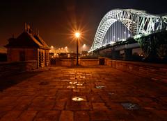 Runcorn Bridge at night (Mark Hemans) Tags: runcorn widnes bridge traffic road building night streetlight streetlamp outdoor nikon d750 nikkor