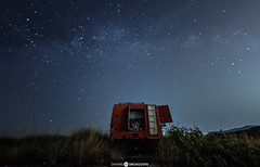 Starry Firetruck (Drougoutis Photography) Tags: firetruck landscapes nikon nikond3 photography greece athens milkyway stars starry nikonphotography nightscapes nightsky