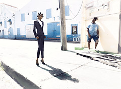 Bridgetown Beat (Busha_b) Tags: caribbean barbados city fashion androgynous suit model streetfashion harshsun 93c story shadows tropical admirer bantuknots afro ebony black blackfashion