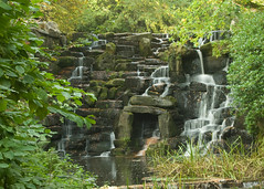 0040 Waterfall,01 (mikeinfleet) Tags: virginiawater surrey waterfall falls water