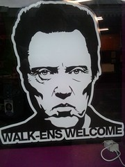 Walk-ens (SheffieldStar) Tags: christopherwalken decal humour hairsalon storewindow