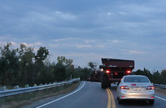 """Photo Series: Life is a Highway:  """"The farm machinery impasse"""" (Ken Whytock) Tags: highway farmmachinery tractor evening ontario"""