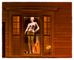 The Woman in the Window (Timothy Valentine) Tags: window berkshires mannequin 2016 1016 wednesday vacation greatbarrington massachusetts unitedstates us