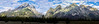 Panoramic Sunrise over the Grand Tetons (Chris Huddleston) Tags: shadow landscape grandtetons clouds mountains sky mountain panorama rough jaged tall