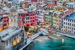 Waterfront Hues... (Howard Brown Photographic) Tags: vernazza waterfront ocean seaside sea color liguria ligurian hdr italy italian italia urban