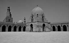 DSC_0665 (me222222222222222222222222) Tags: egypt cairo ibn tulun mosque corridor minaret ablution wudu black white