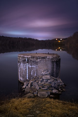 black friday (swartzfeger) Tags: clouds sky night landscape longexposure pink blue water lake calm