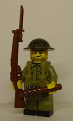 Tommy Boy oh Boy, New Weapons! (enigmabadger) Tags: brickarms lego custom minifig minifigure fig weapon weapons accessory accessories combat war world battlefield one proto prototype protoz german british american history historical great