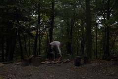 Coeymans Hollow, NY (Alaina H.) Tags: camping tipi upstatenewyork david campfire newyork woods forest