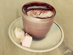 Hot Cocoa and gourmet marshmallows. (Caroline-NZ) Tags: marshmallow cocoa raspberry caramel chocolate drink food sweets candy