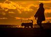 (Topolino70 **** Thanks for Million Views! *****) Tags: sunset woman dog shore sea lauttasaari helsinki finland pet outdoor