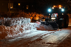 After snowfall (patrick.tafani) Tags: nuit nighr snow neige chasseneige snowplow