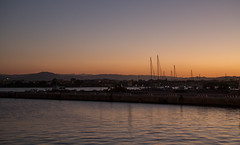 Olbia harbour with Venus above the masts (jan.stefka) Tags: olbia night sunset italie italy sardegna 2016 canoneos7d harbour sardinie