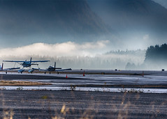Early morning visit ( Gillfoto) Tags: airport alaska juneau cloud mist morning