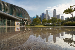 All things Equal (draken413o) Tags: singapore esplanade city cityscapes architecture refelction day urban places scenes wow irix 15mm blackstone uwa asia travel destinations structures