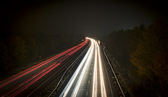Rush hour (75of365) (Reckless Times) Tags: lighttrails light trails kidlington overbridge looking a34 white red lights dusk night nighttime nikon d750 project 365 long longexposure rush hour rushhour