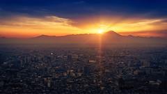 Mount Fuji (jochen.bogomiehl) Tags: tokyo japan mount fuji mountfuji sunset blauestunde bluehour flare twilight